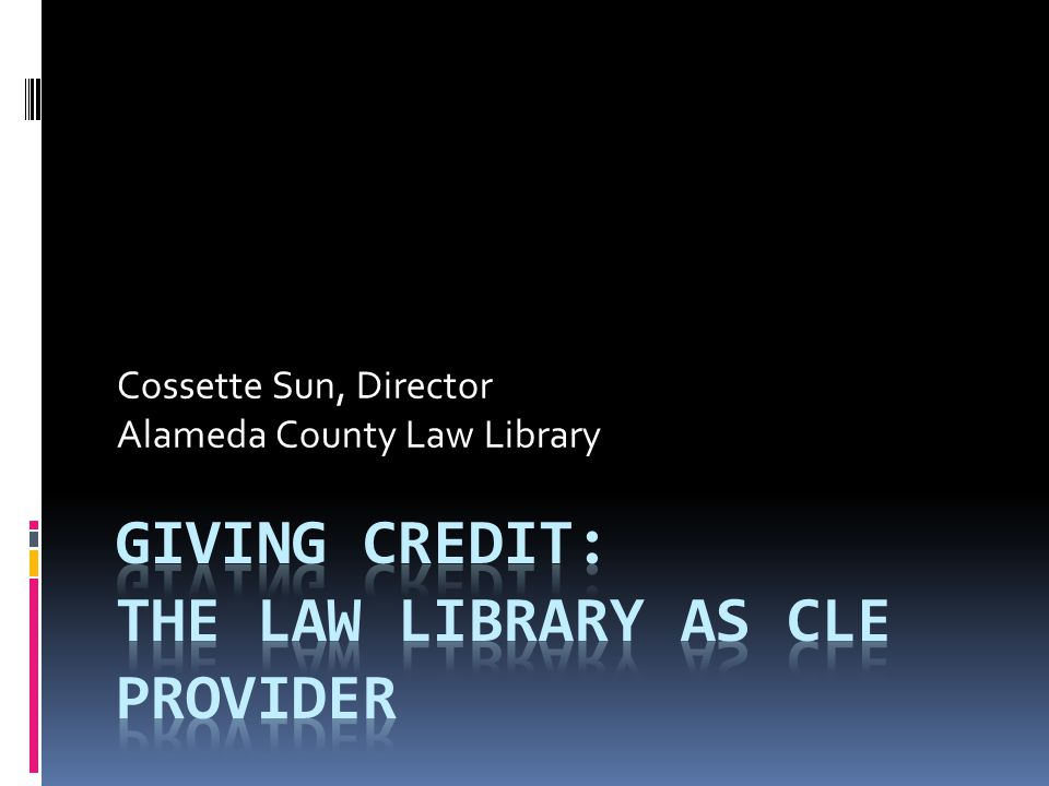 Cossette Sun, Director Alameda County Law Library