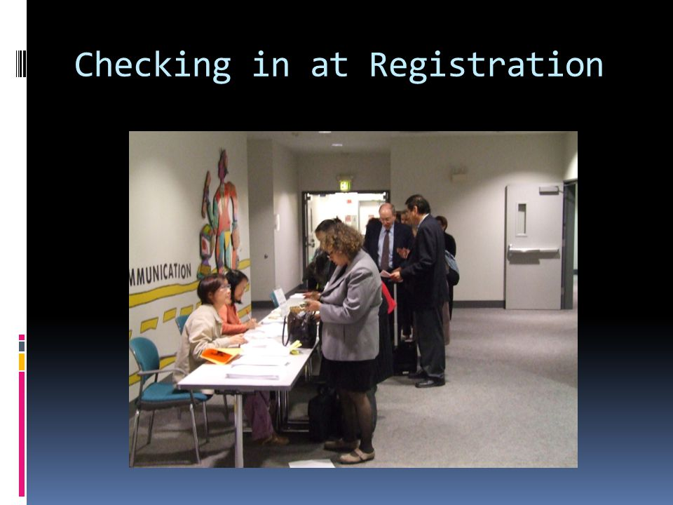 Checking in at Registration