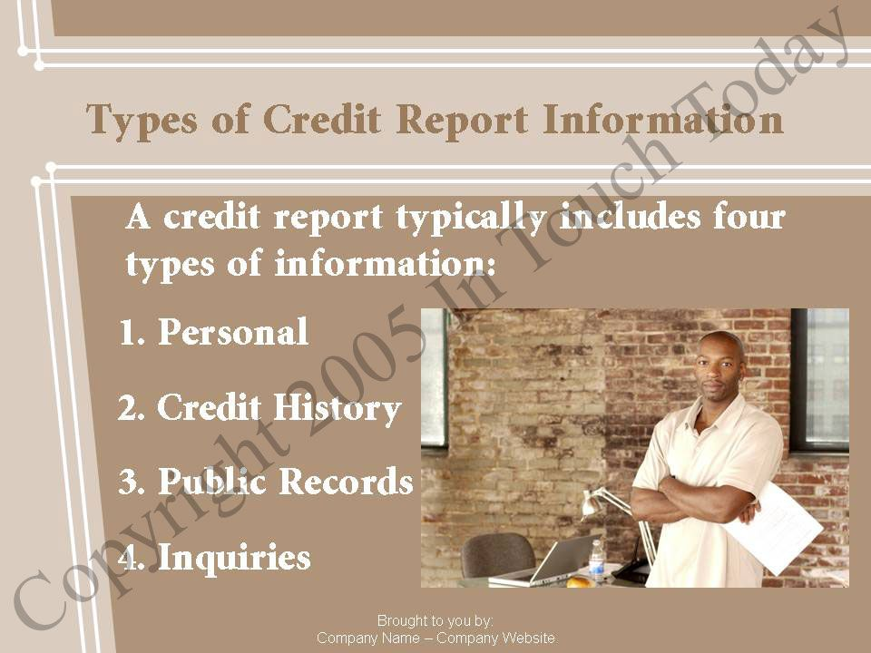 Types of Credit Report Information