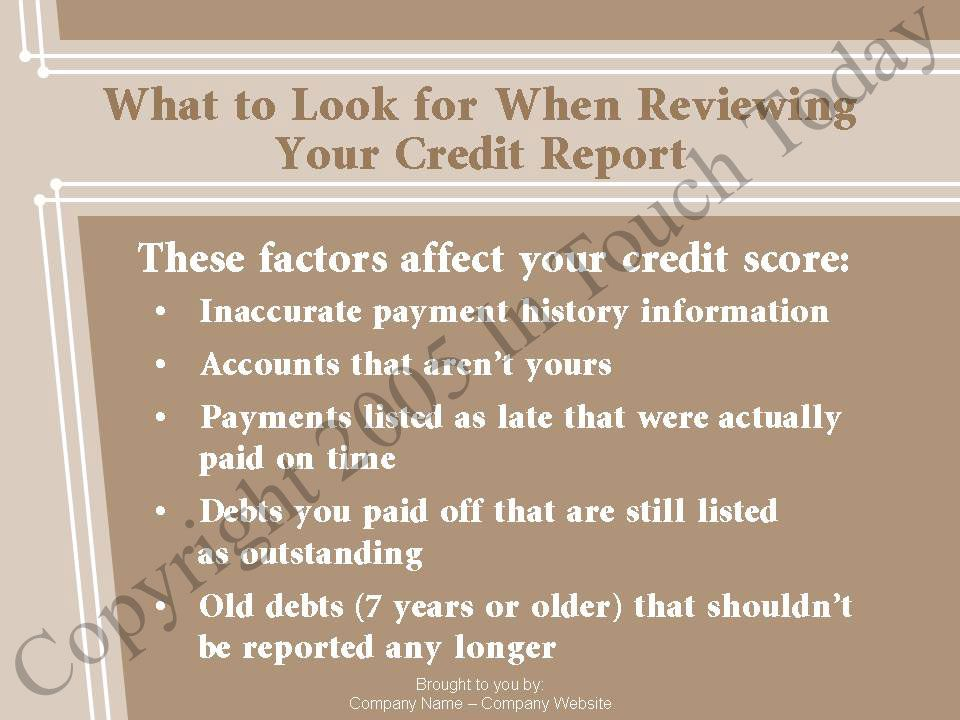 What to Look for When Reviewing Your Credit Report