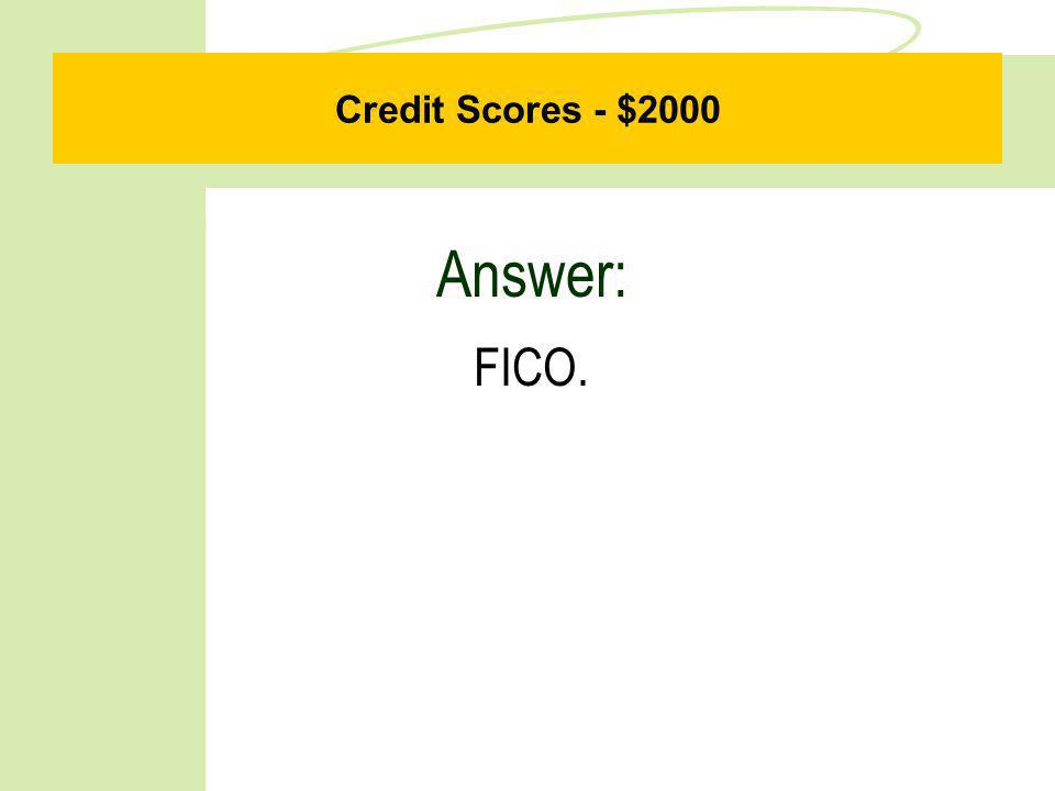Credit Scores - $1000 Question: What is a charge-off