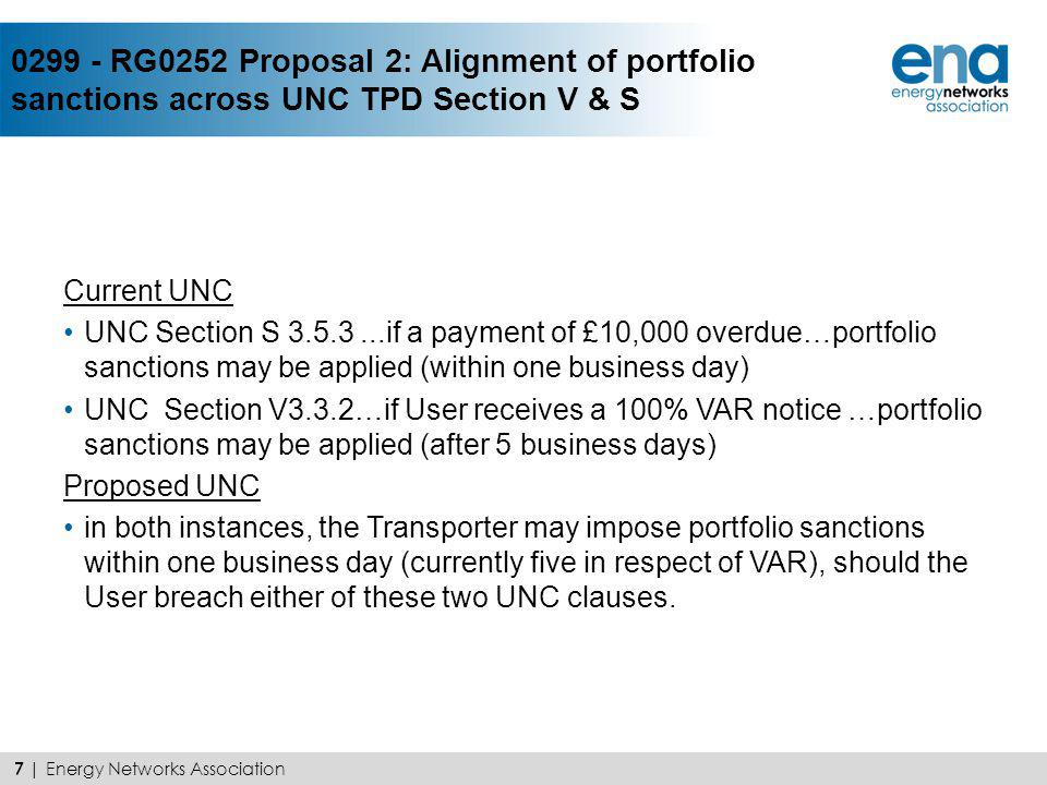 0300 - RG0252 Proposal 3: Introduction of Fitch as an allowable Credit Rating Agency for the purposes of Code Credit Arrangements UNC 0252 recommended that long term ratings provided by Fitch Ratings be allowed in addition to those provided by Standard & Poors and Moodys Investment Service for the purposes of obtaining unsecured Code Credit Limit based on Investment Grade Rating > Proposal introduces defined term Credit Rating Agency (CRA) > Table to map credit ratings for clarity and consistent application > Consistent with GT Licence SSC A38 > Consistent with CUSC 8 | Energy Networks Association