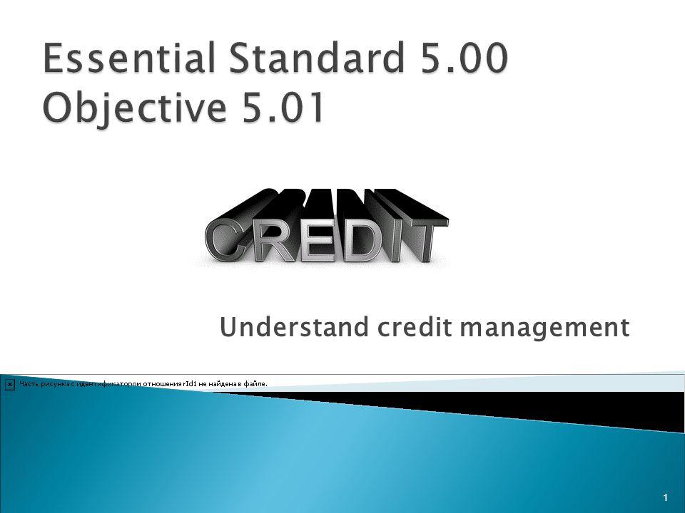 Understand credit management 1