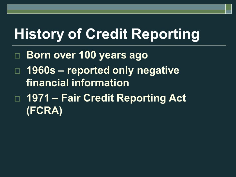 How to establish credit Bank accounts Employment history Residence history Utilities in borrowers name Department store or gas credit card