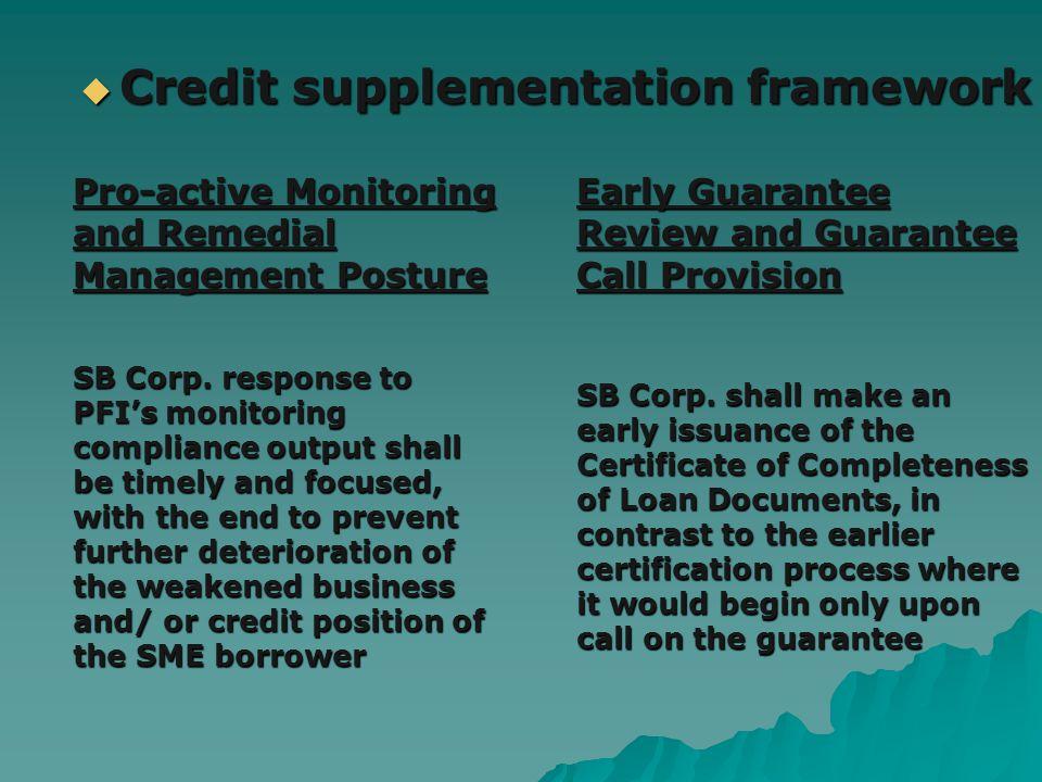 Early Guarantee Review and Guarantee Call Provision SB Corp.