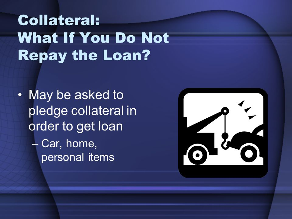 Collateral: What If You Do Not Repay the Loan.