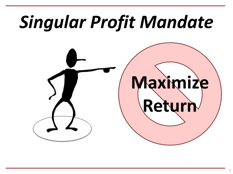 Singular Profit Mandate 7 Maximize Return