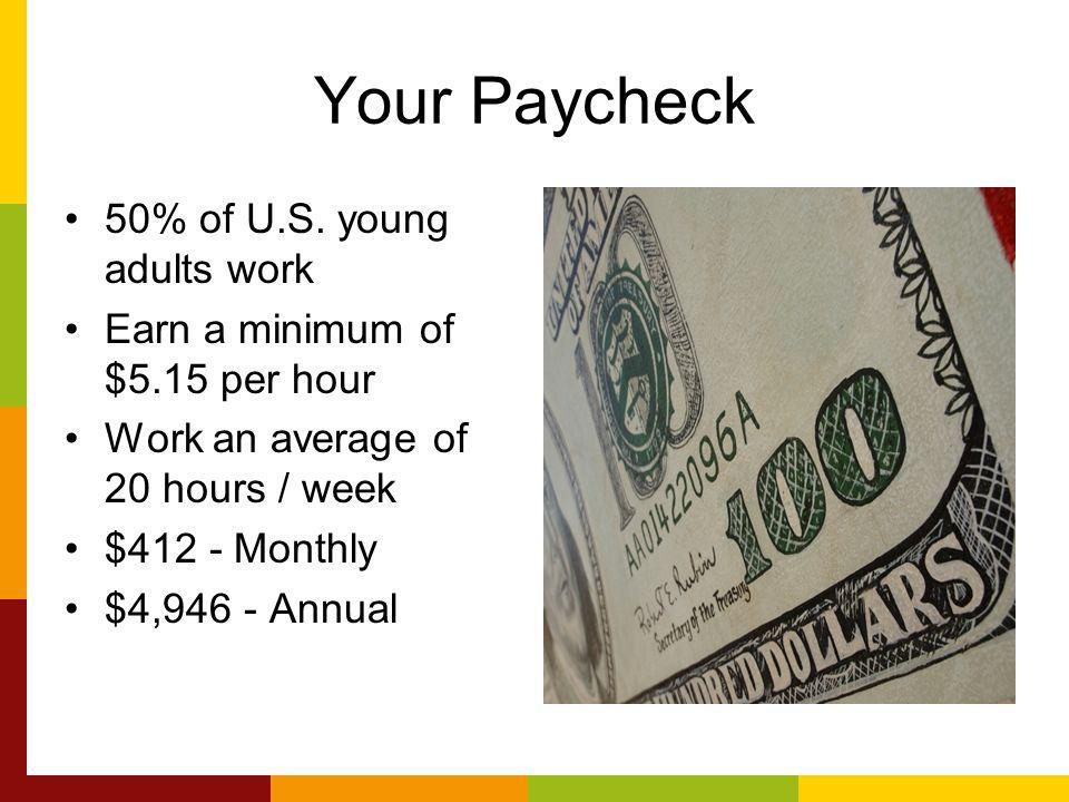 Your Paycheck 50% of U.S.
