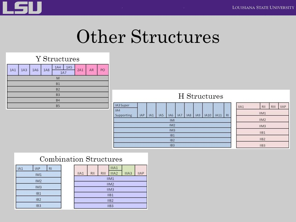 Other Structures Y Structures H Structures Combination Structures