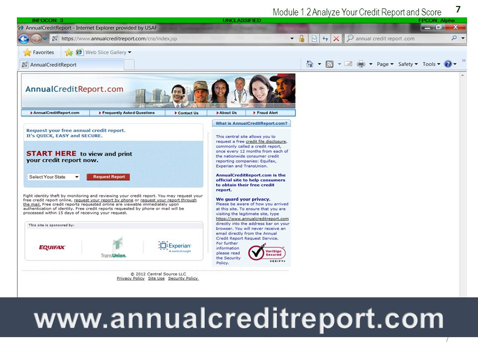 7 Module 1.2 Analyze Your Credit Report and Score 7