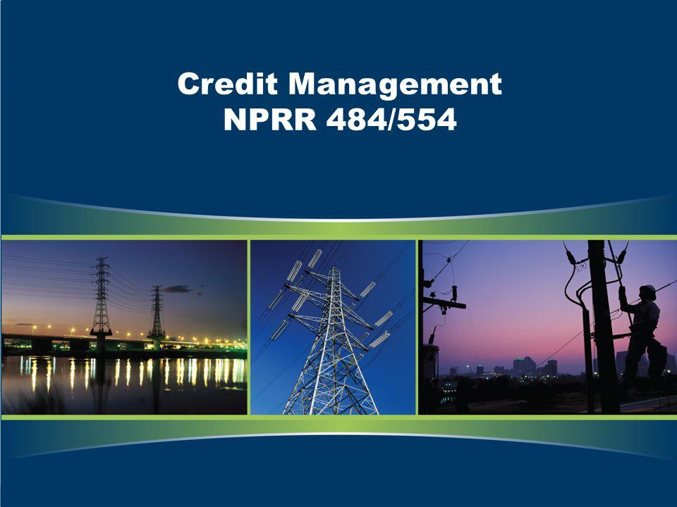 Credit Management NPRR 484/554