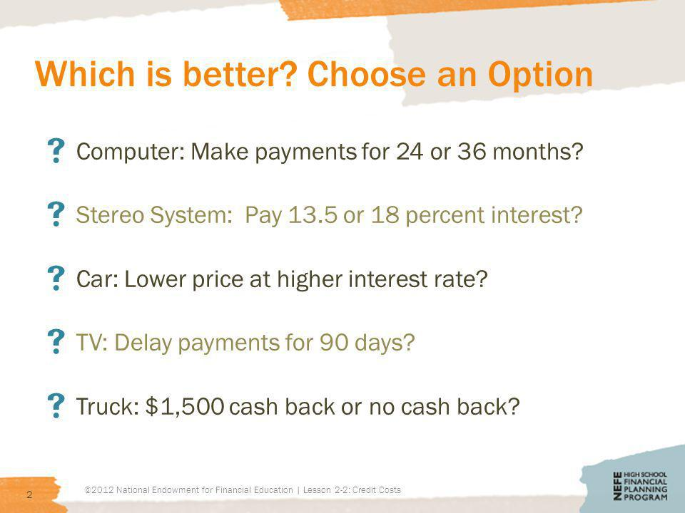 Today you will … Today we will answer these questions: How is credit used.