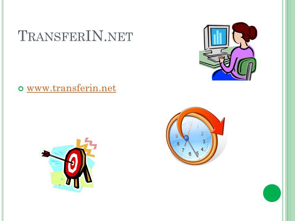 T RANSFER IN. NET www.transferin.net