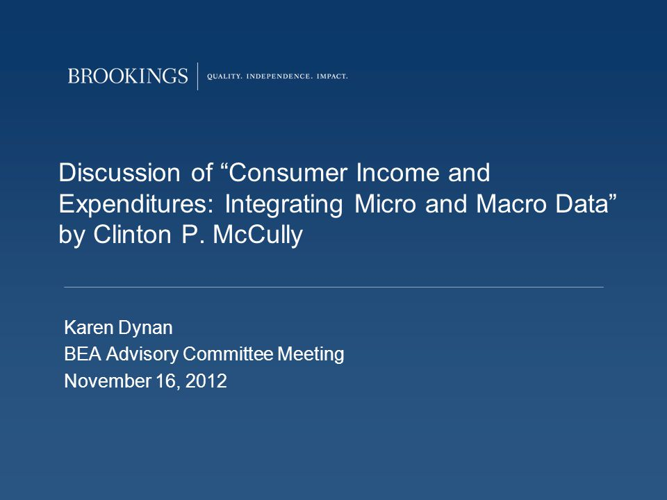 Discussion of Consumer Income and Expenditures: Integrating Micro and Macro Data by Clinton P.