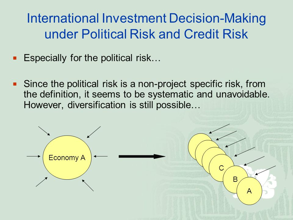 International Investment Decision-Making under Political Risk and Credit Risk Especially for the political risk… Since the political risk is a non-pro