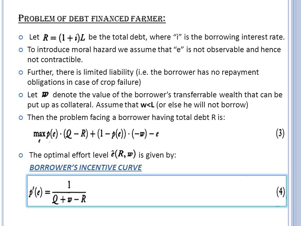 Observations: The line joining the origin to any point on the incentive curve gives us nothing but the interest rate i.
