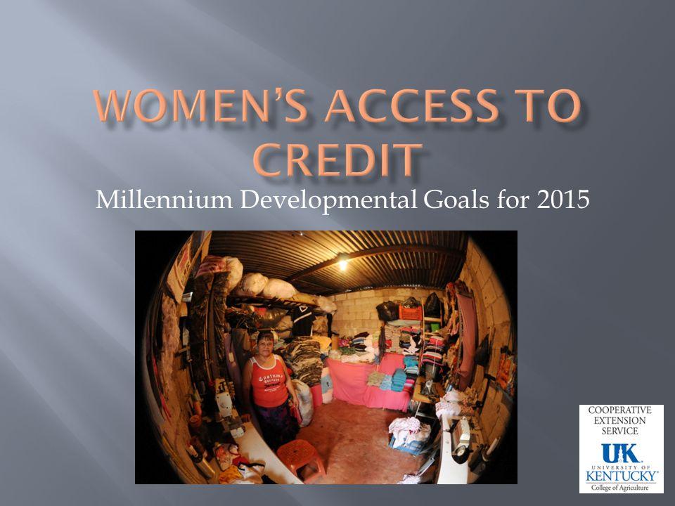 Millennium Developmental Goals for 2015