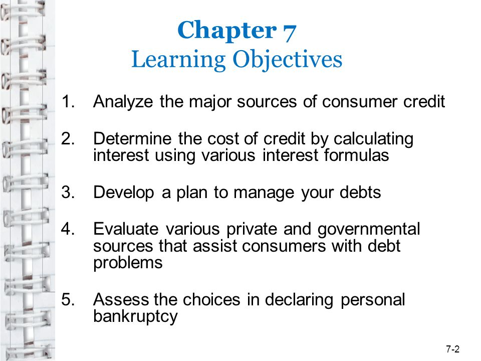 Sources of Consumer Credit Objective 1: Analyze the major sources of consumer credit WHAT KIND OF LOAN SHOULD YOU SEEK.