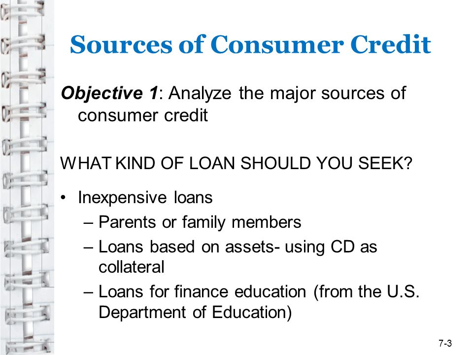 Consumer Credit Counseling Services Objective 4: Evaluate various private and governmental sources that assist consumers with debt problems ** If you cant pay your bills, postpone further credit purchases, talk with your creditors, or seek help from a non-profit credit counseling service 7-24