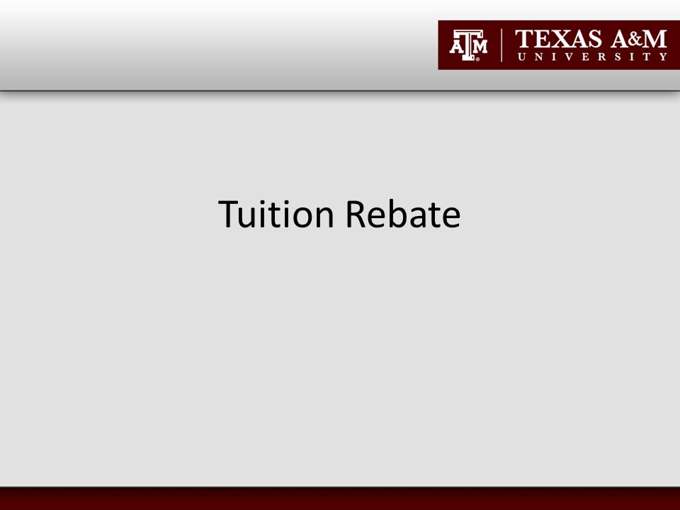 Tuition Rebate