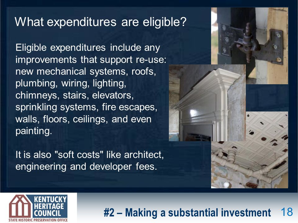 What expenditures are eligible.