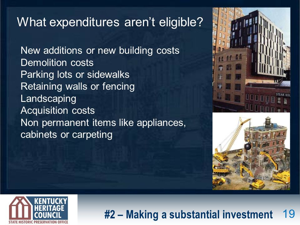 What expenditures arent eligible.