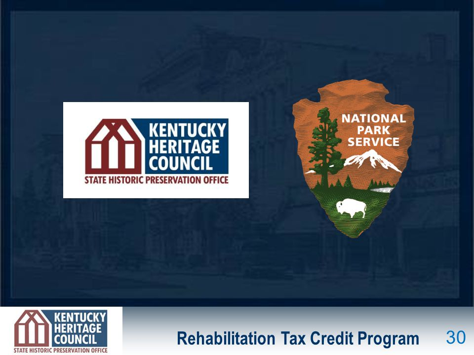 Rehabilitation Tax Credit Program 30