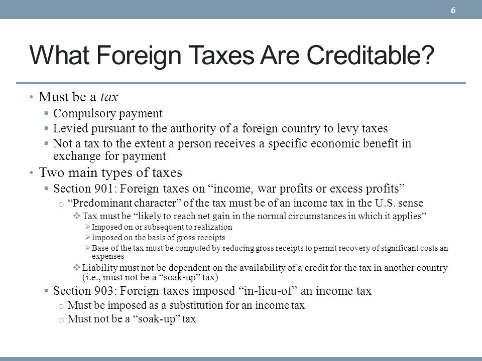 What Foreign Taxes Are Creditable.Recent Case Law In companion decisions in PPL Corp.