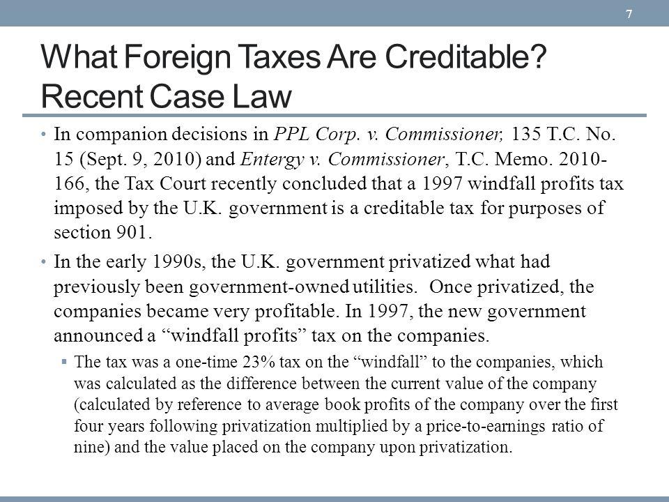 Recent Foreign Tax Credit Legislation P.L.