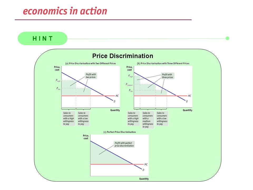 H I N T Price Discrimination