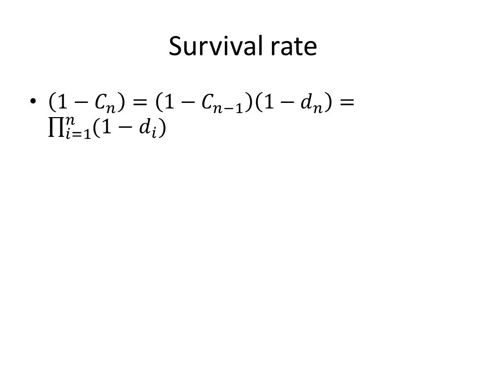 Survival rate
