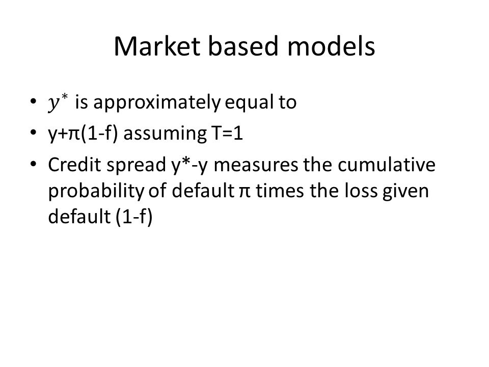 Market based models