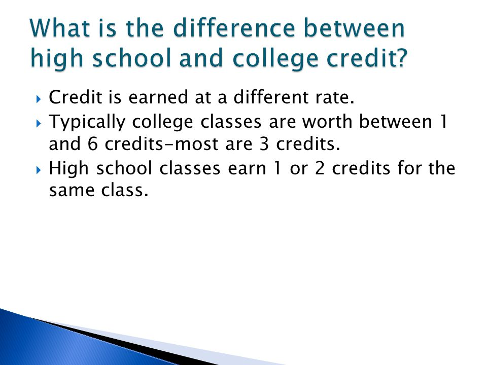 Credit is earned at a different rate.