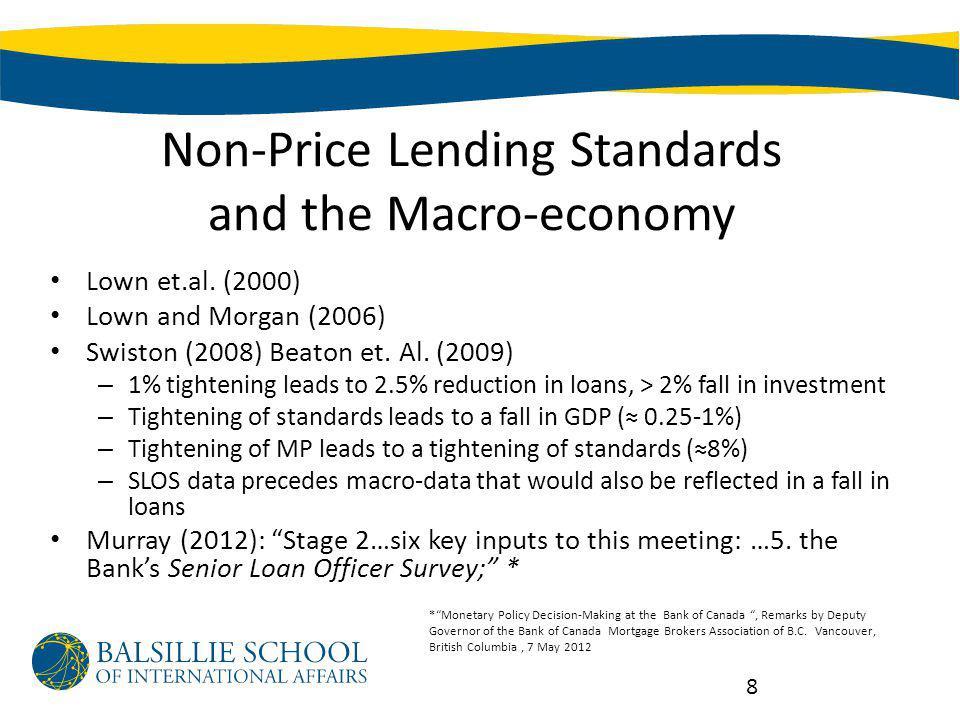 Non-Price Lending Standards and the Macro-economy Lown et.al.