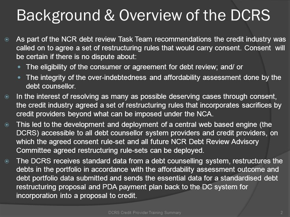 DCRS Website - Create User Step 1: Open User Maintenance DCRS Credit Provider Training Summary13 Create/update users (Admin only)