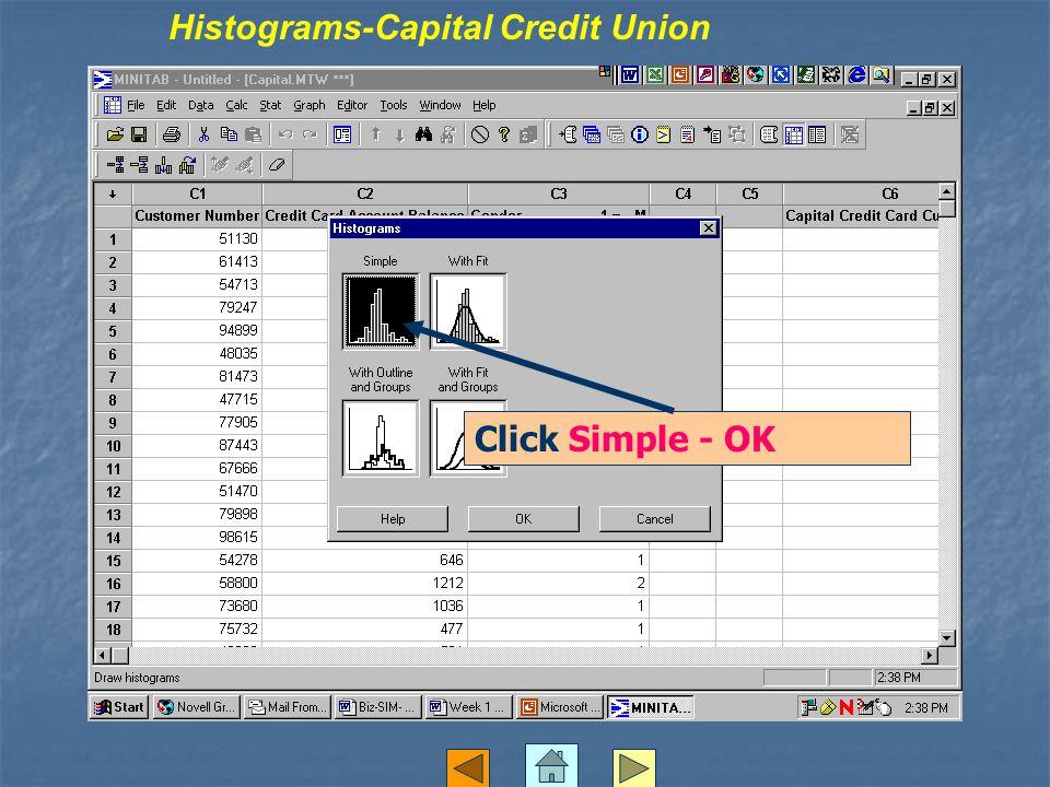 Click Simple - OK Histograms-Capital Credit Union