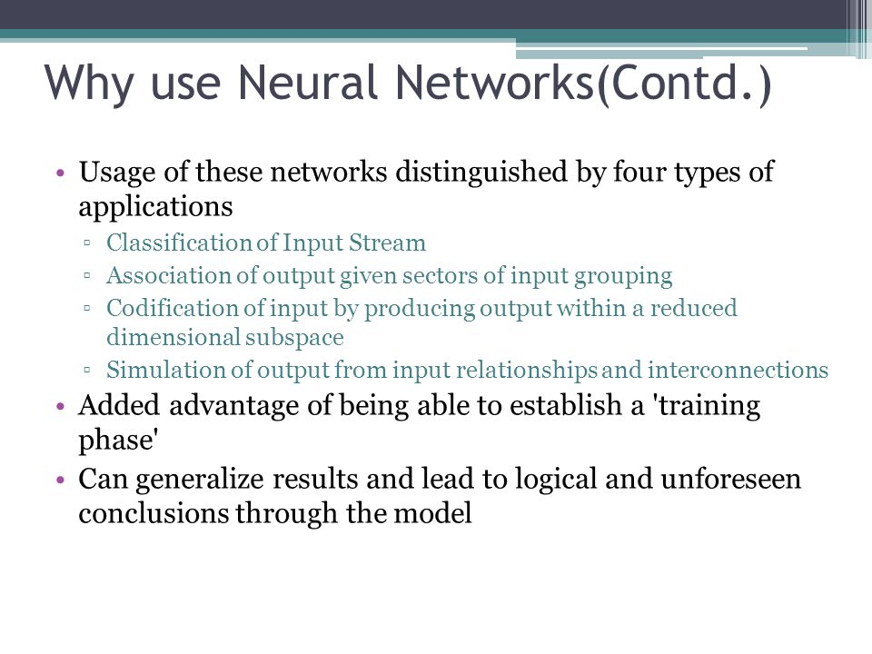 Modification in Neural Networks Wavelets,a technique used in multi-resolution analysis in signal processing, is used to overcome the limitations in Neural Networks Wavelet Neural Networks approximates a function f better than neural networks WNN has universal L 2 approximation properties and is a consistent function estimator Wavelet Neural Networks