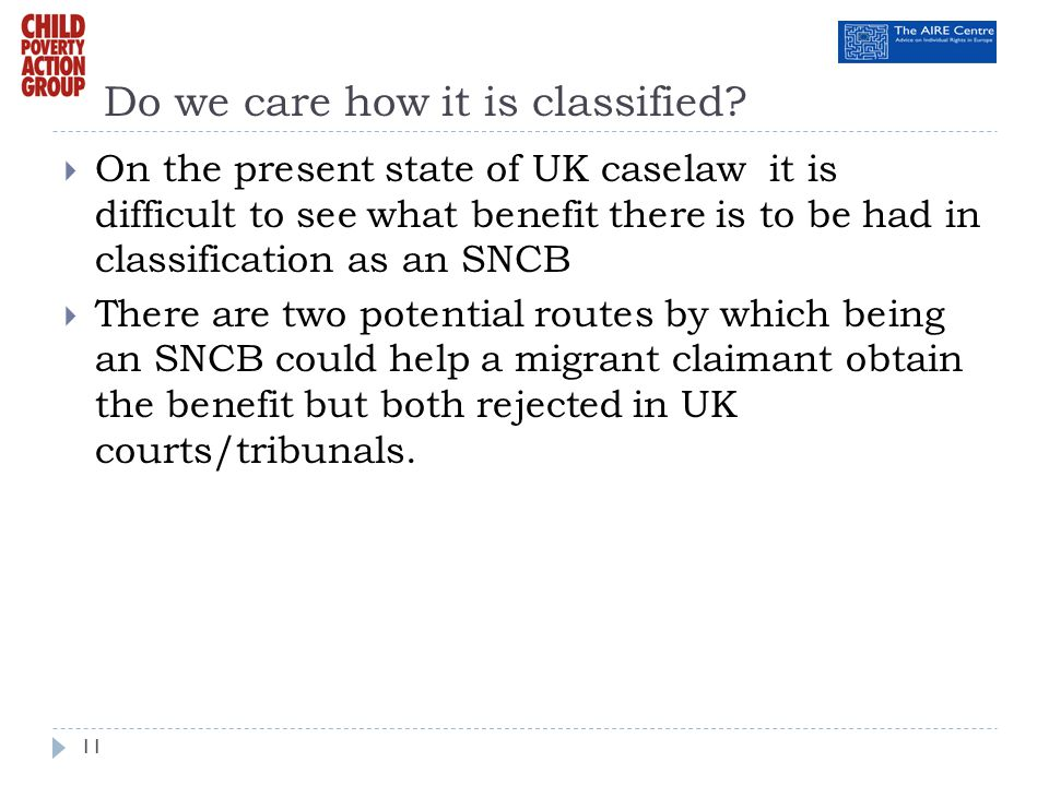 Do we care how it is classified? On the present state of UK caselaw it is difficult to see what benefit there is to be had in classification as an SNC