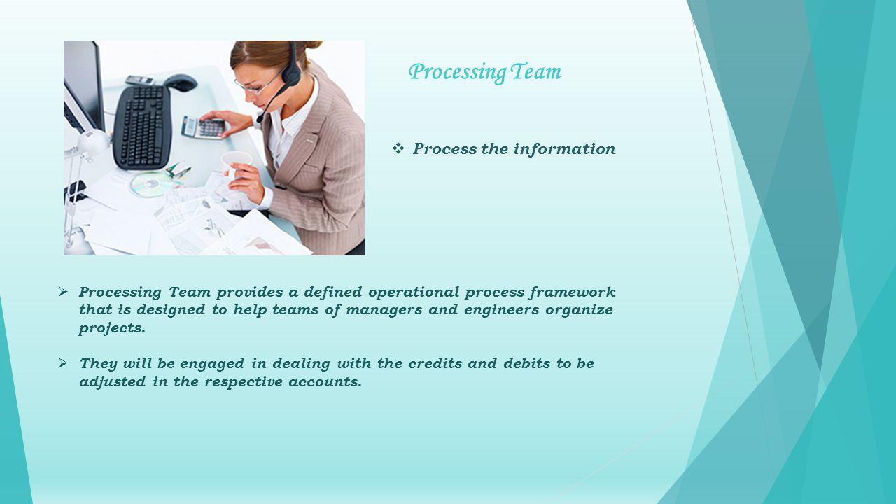 Processing Team provides a defined operational process framework that is designed to help teams of managers and engineers organize projects.
