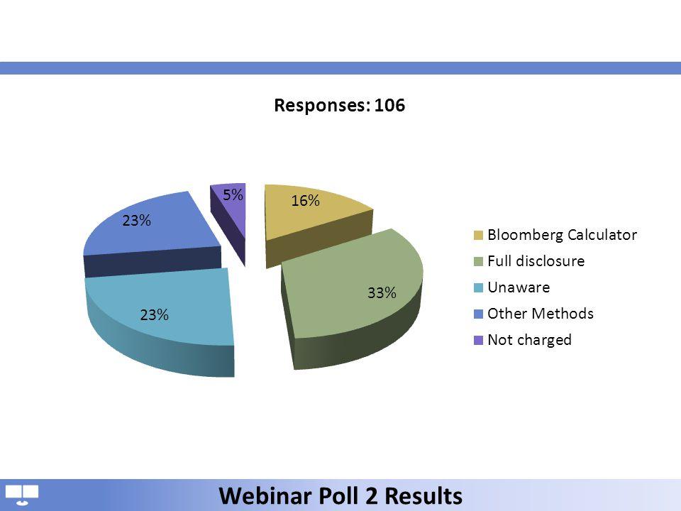 Webinar Poll 2 Results