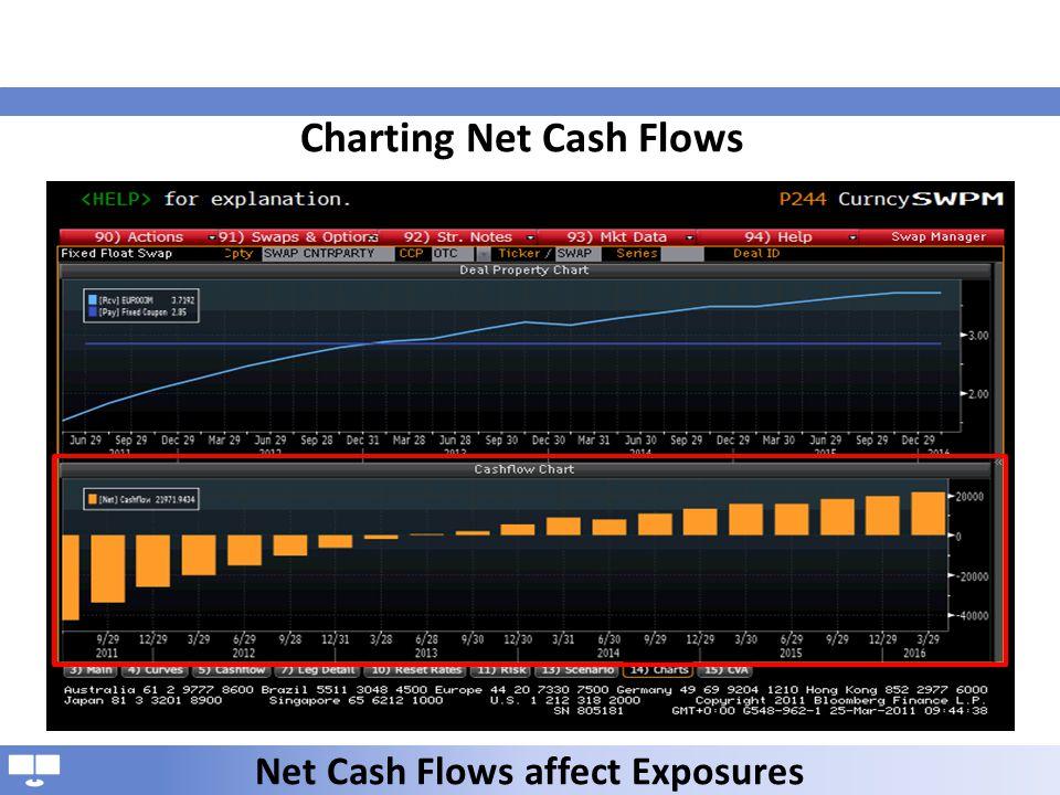 Charting Net Cash Flows Net Cash Flows affect Exposures