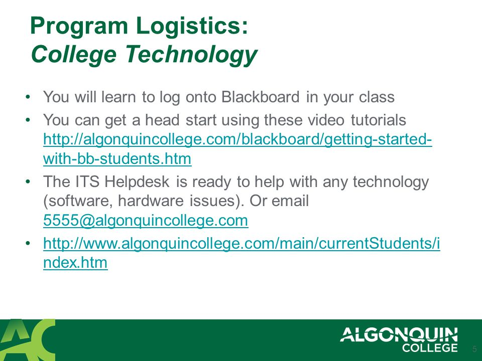 Program Logistics: Student Timetable Your timetable – learn to understand the language 6