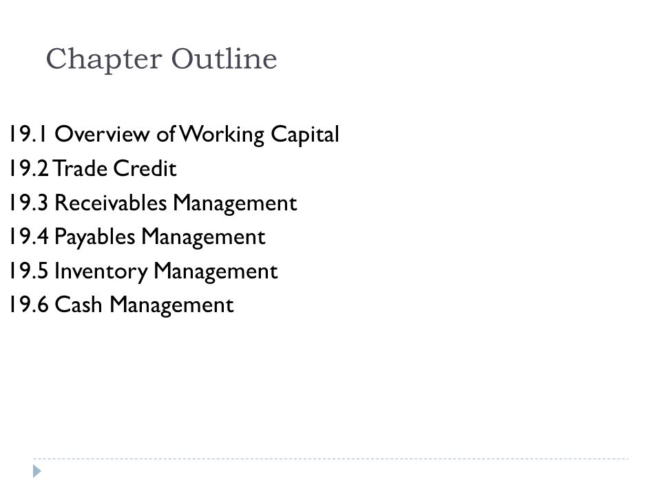 19.3 Receivables Management Determining Credit Policy 5 Cs of Credit Character Capacity Capital Collateral Conditions
