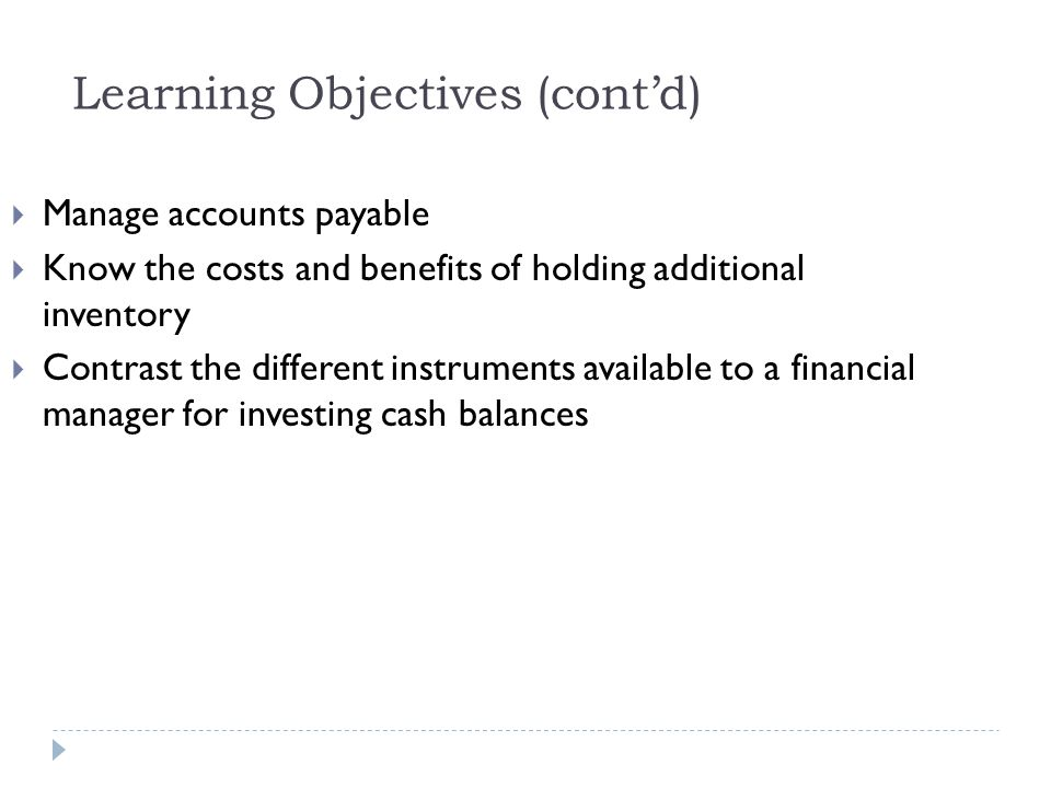 Example 19.3b Estimating the Effective Cost of Trade Credit Solution: Plan: Using a $100 purchase as an example: 2/10, net 45 means that you get a 2% discount if you pay within 10 days, or you can pay the full amount within 45 days.