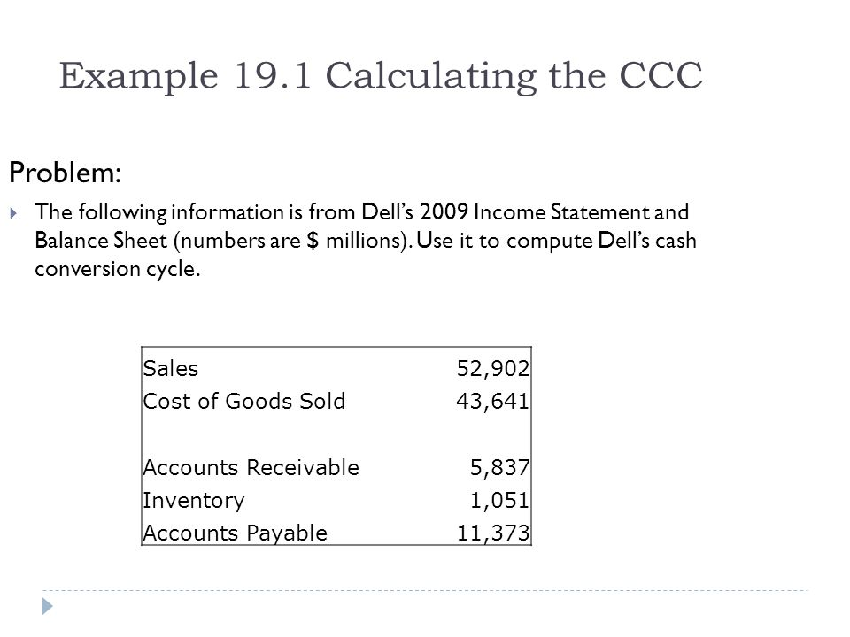 Example 19.4a Evaluating a Change in Credit Policy Problem: Your company currently sells its product with a 2% discount to customers who pay cash immediately.
