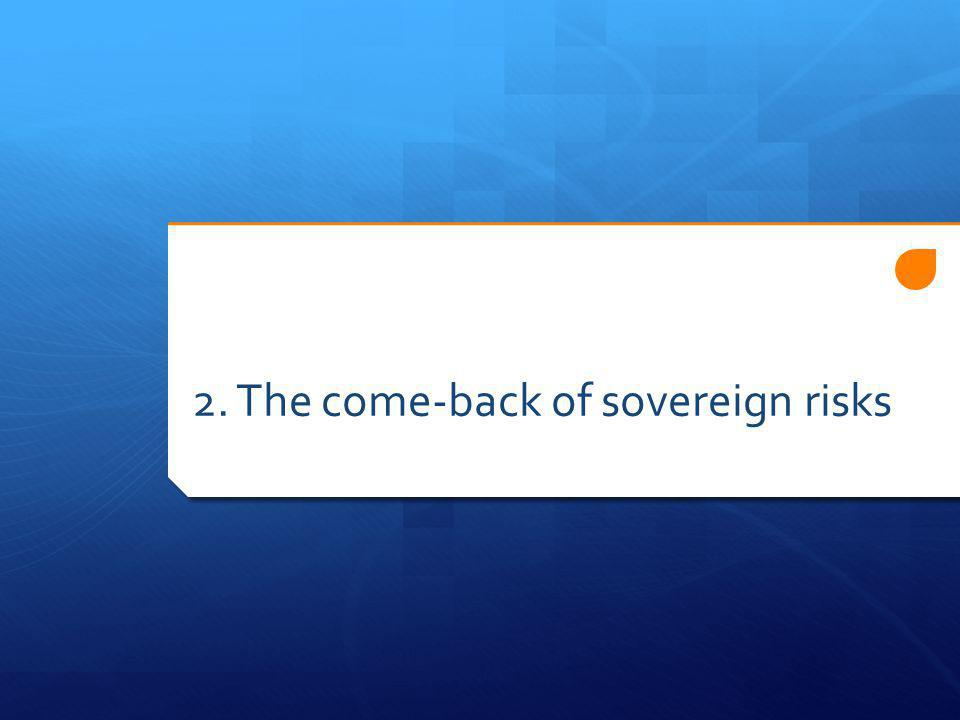 2. The come-back of sovereign risks