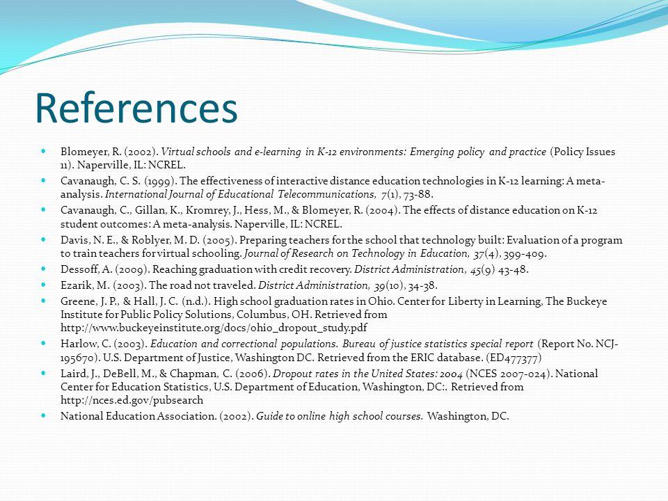 References Blomeyer, R. (2002).