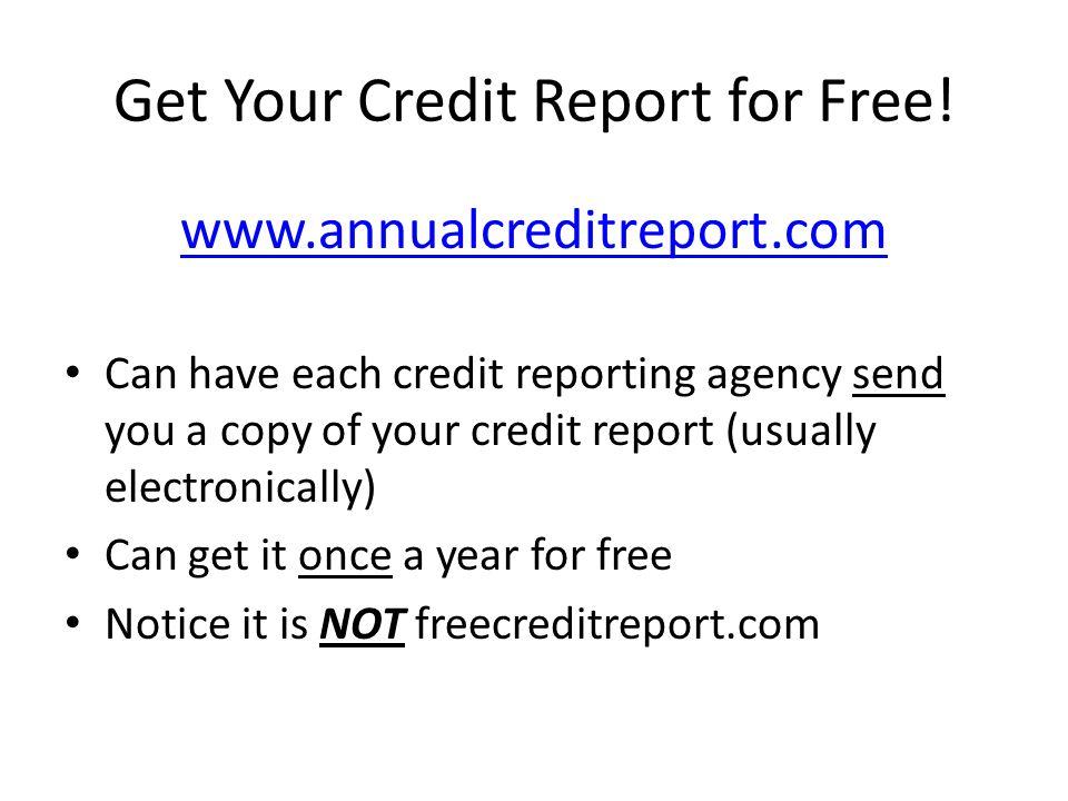 Your Credit Score A.k.a.