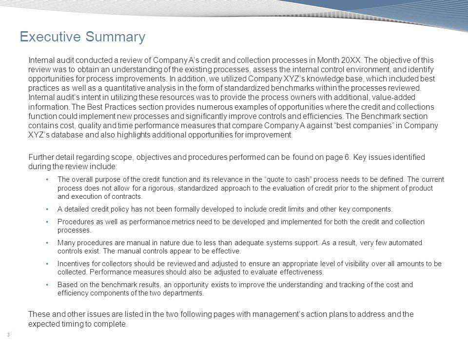 64 Appendix C: Benchmarking - Accounts Receivable Diagnostic Tool