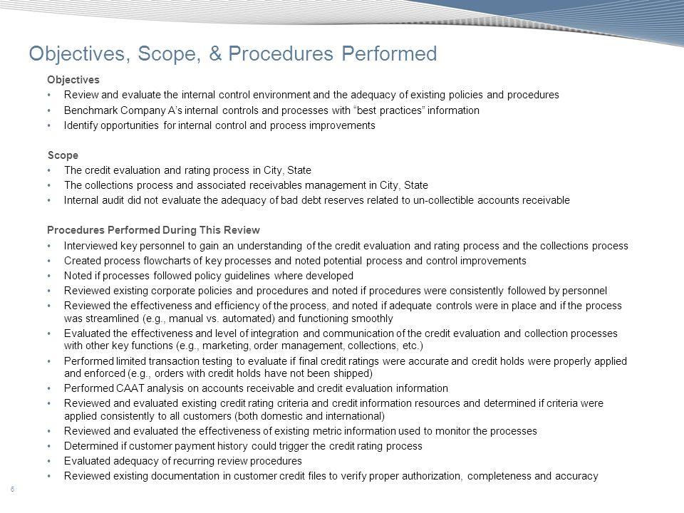 57 Appendix C: Benchmarking - Accounts Receivable Diagnostic Tool
